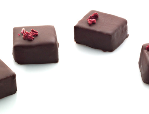 Ganache with Raspberries
