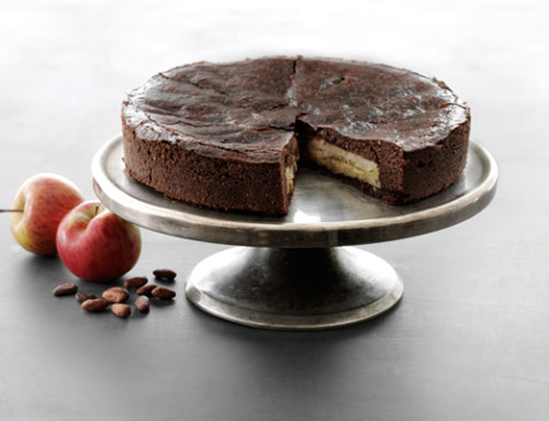 Chocolate Cake with Apples and Almonds