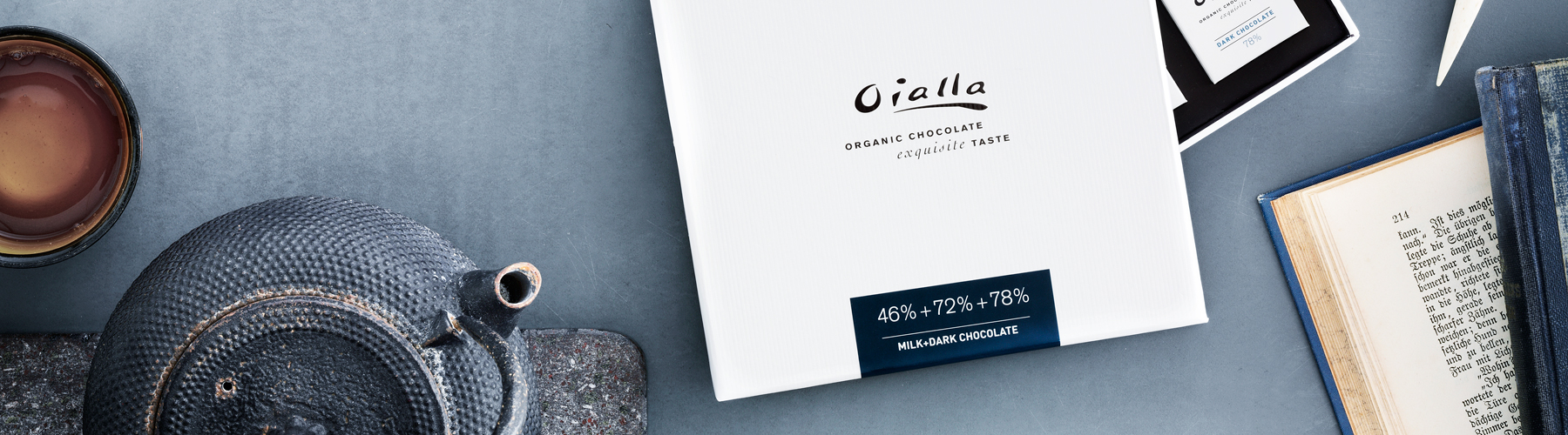 Oialla milk and dark chocolate